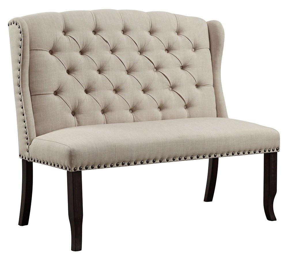 Sania I Rustic 2-Seat Loveseat Bench