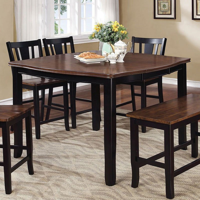 880d4c899e8a9 Dover II Counter Height Table (Cherry And Black) Furniture Of America