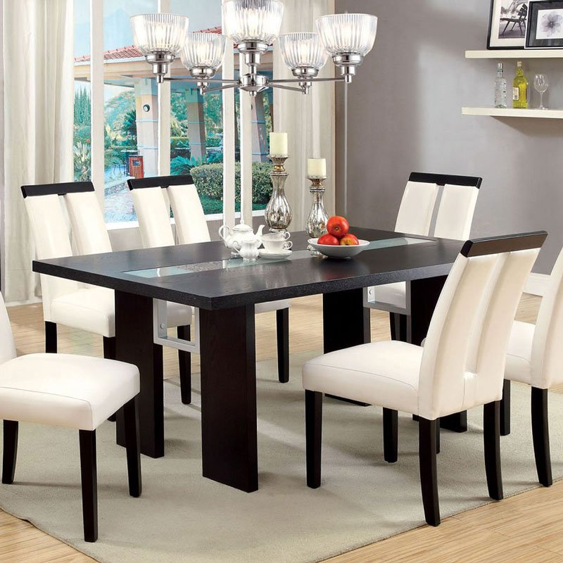 luminar i dining table furniture of america furniture cart. Black Bedroom Furniture Sets. Home Design Ideas