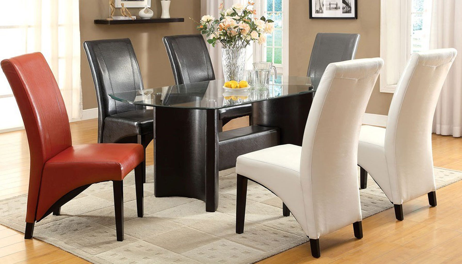 Grey Dining Room Chairs: Madison Dining Room Set W/ Gray Chairs Furniture Of