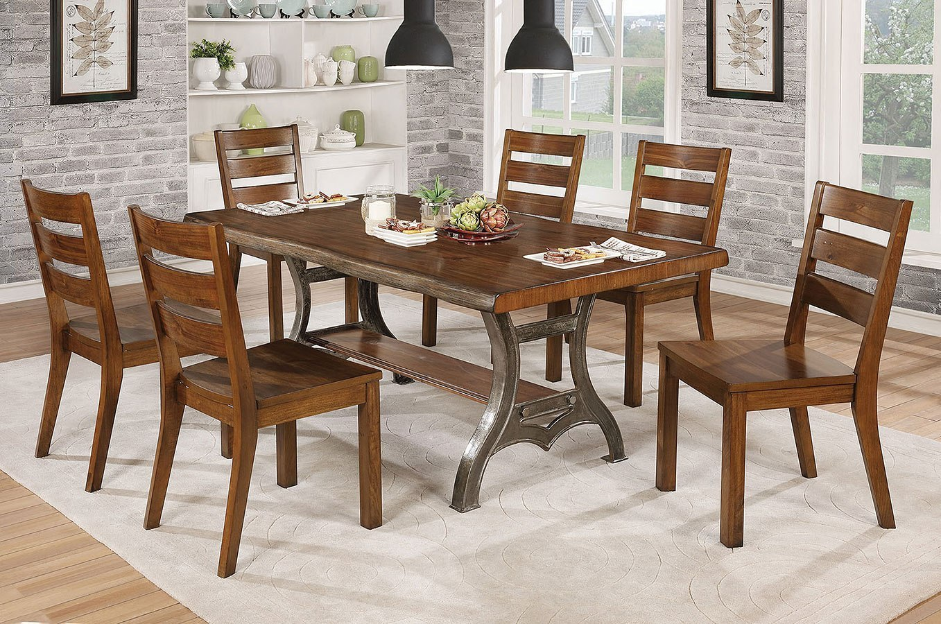 Leann Dining Room Set Furniture Of America Furniture Cart