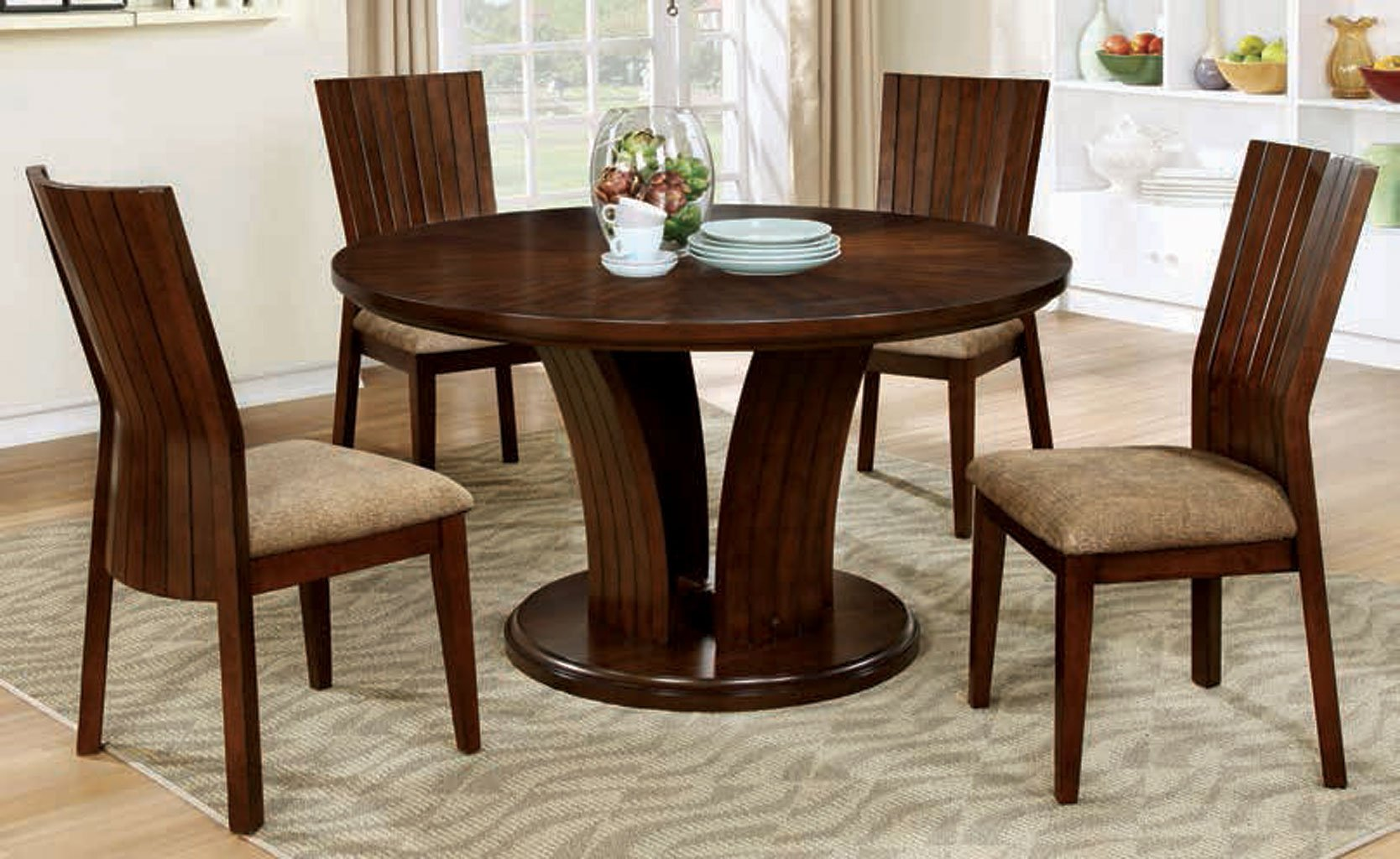 Montreal I Round Dining Room Set Furniture Of America