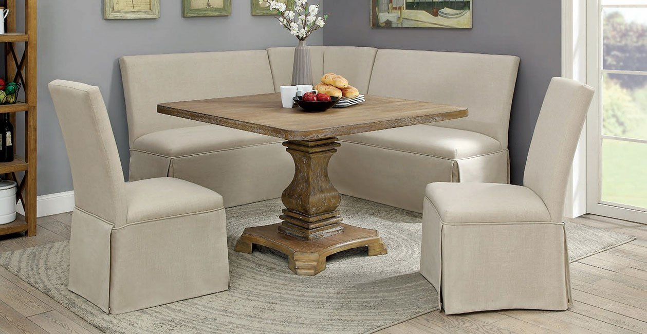 Nerissa square dining room set antique oak