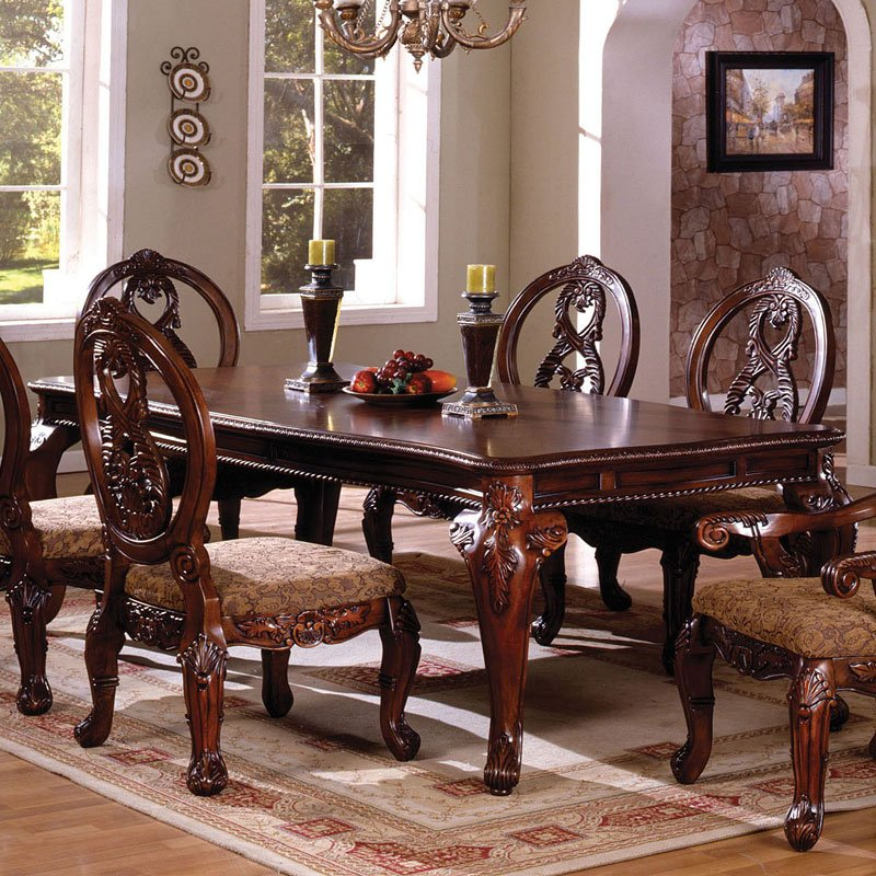 Tuscany II Dining Table (Antique Cherry). Chairs Sold Separately - Tuscany II Dining Table (Antique Cherry) Furniture Of America