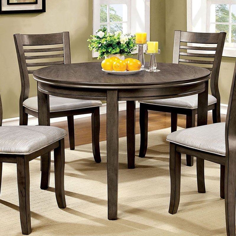 Dwight iii 42 inch round dining table furniture of america dwight iii 42 inch round dining table watchthetrailerfo