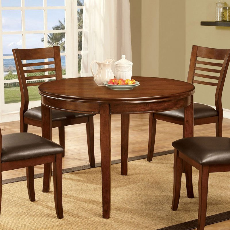 dwight i 42 inch round dining table furniture of america furniture cart. Black Bedroom Furniture Sets. Home Design Ideas