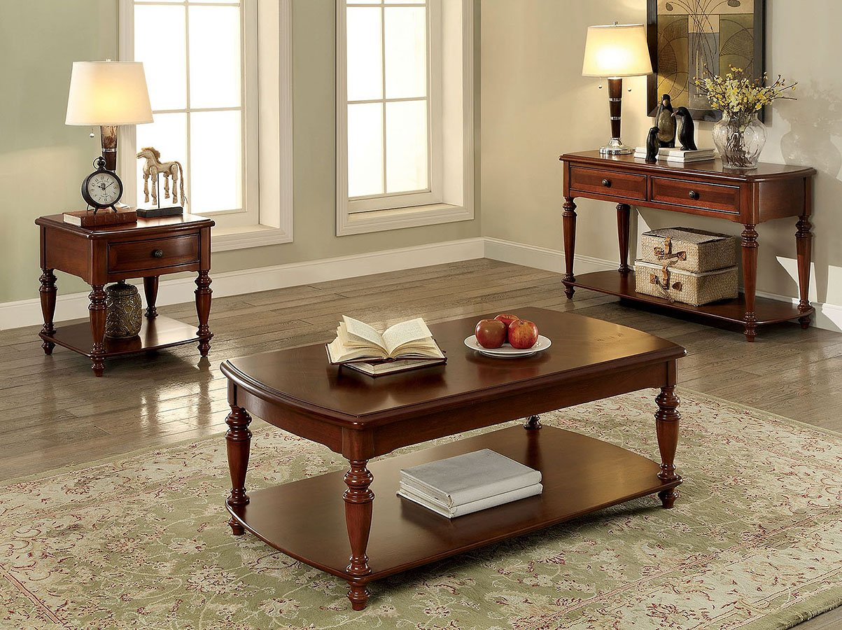 Samira Occasional Table Set Furniture Of America Furniture Cart