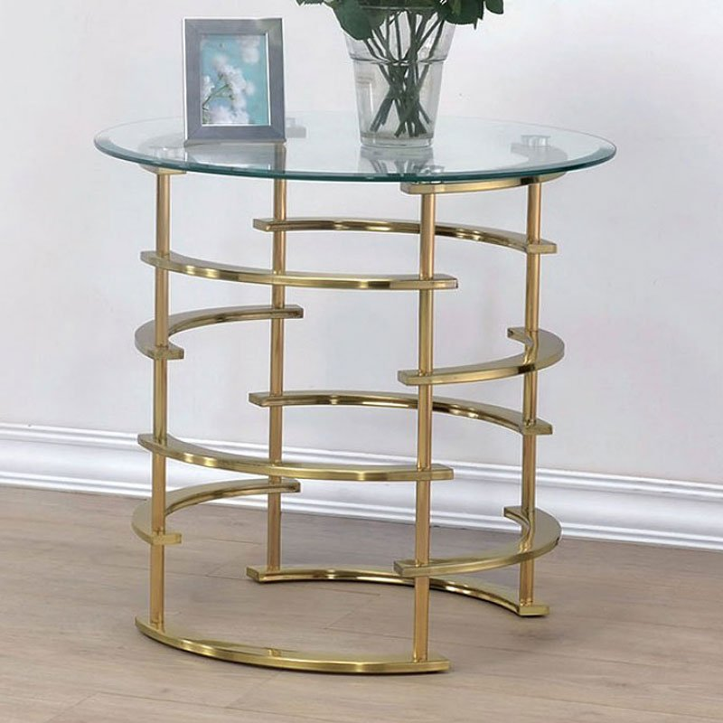Clonmel End Table Gold