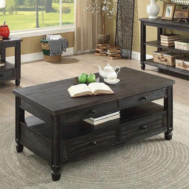 Lift Top Coffee Table Antique: Suzette Lift-Top Coffee Table (Antique Black) Furniture Of