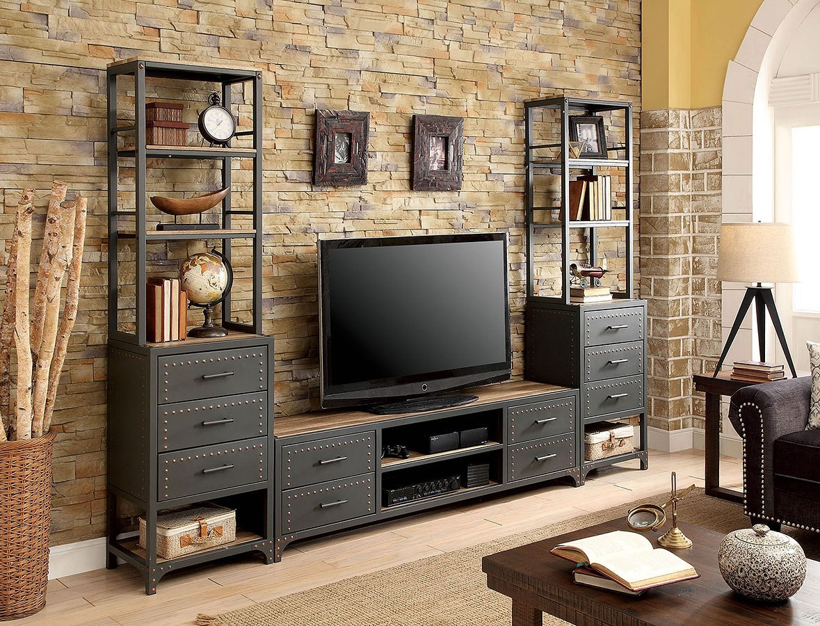 Galway Entertainment Wall w/ 72-Inch TV Stand