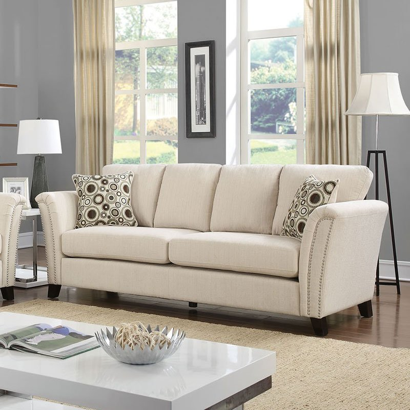 Campbell Sofa (Ivory) By Furniture Of America