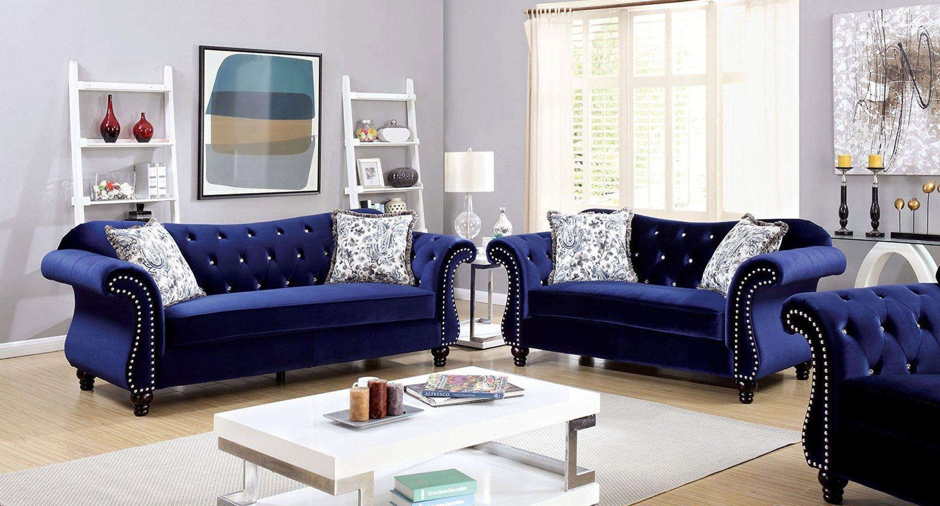 Jolanda Living Room Set (Blue)