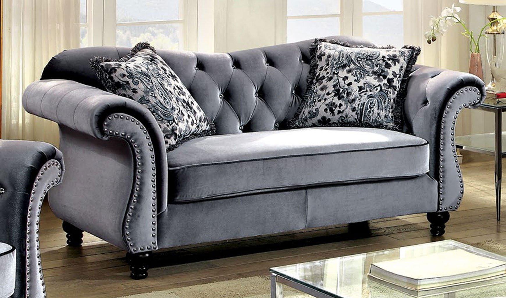 Super Jolanda Living Room Set Gray Creativecarmelina Interior Chair Design Creativecarmelinacom