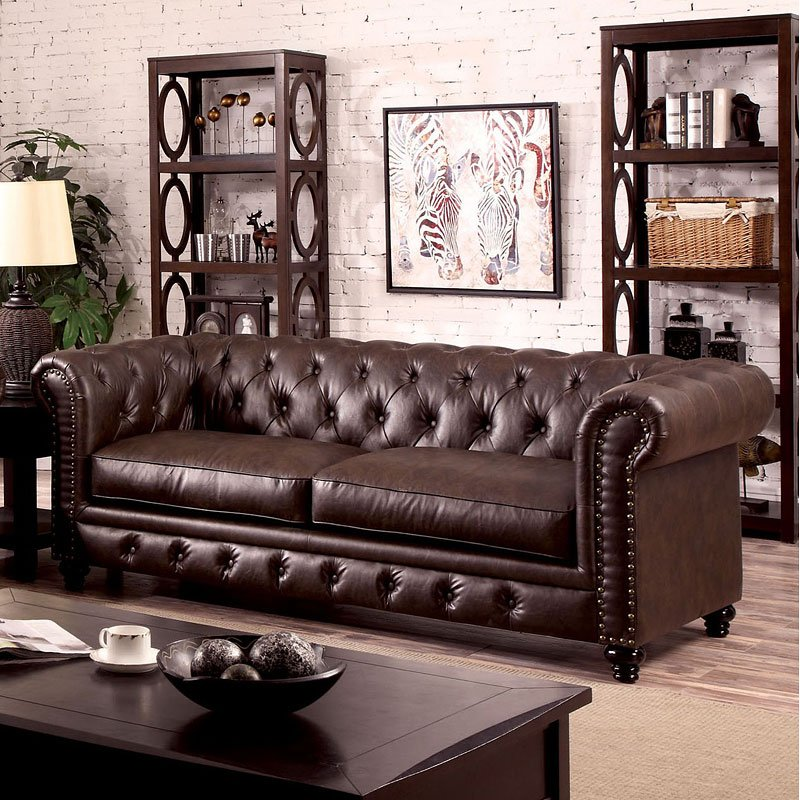 Furniture Of America Living Room Collections: Stanford Living Room Set (Brown) Furniture Of America
