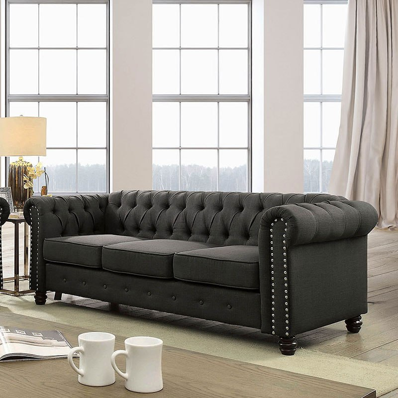 30 Best Collection Of Ashley Furniture Gray Sofa: Winifred Sofa (Gray) Furniture Of America