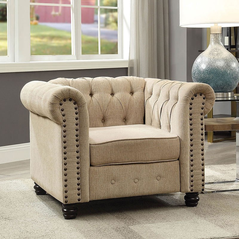 Winifred Living Room Set (Ivory) Furniture Of America