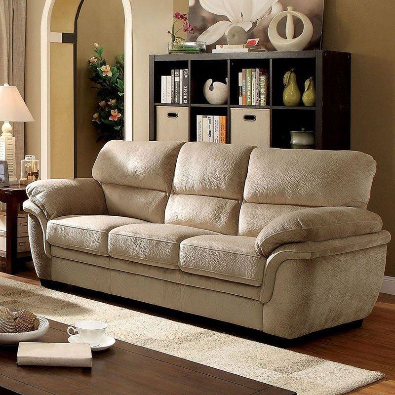 Other Home Furnitures Bangalore Furniture Manufacturers: Jaya Sofa (Light Brown) Furniture Of America