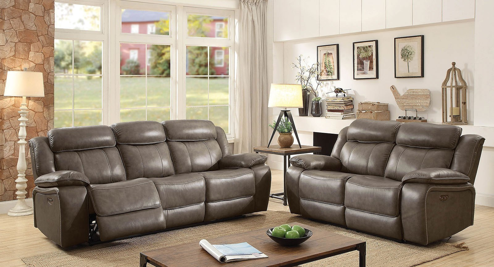 Page power reclining living room set furniture of america furniture cart