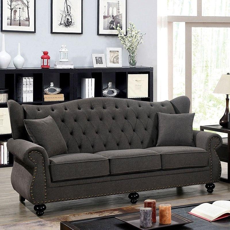 Ewloe Living Room Set (Dark Gray)