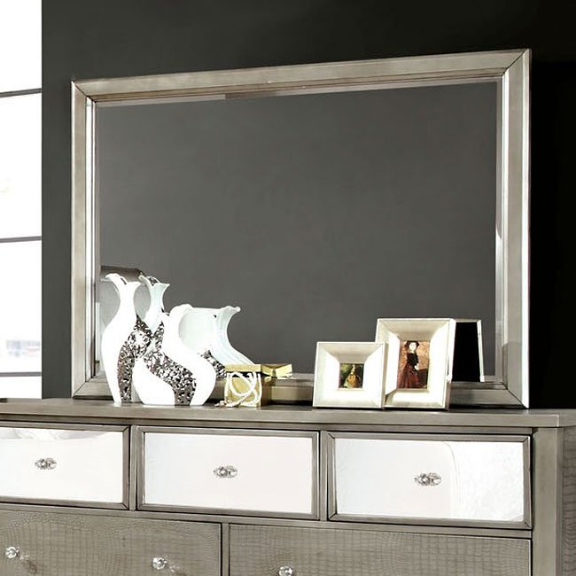 Ashley Furniture Bryant Ar Collection Collection Ashley: Bryant Sleigh Bedroom Set (Silver) Furniture Of America
