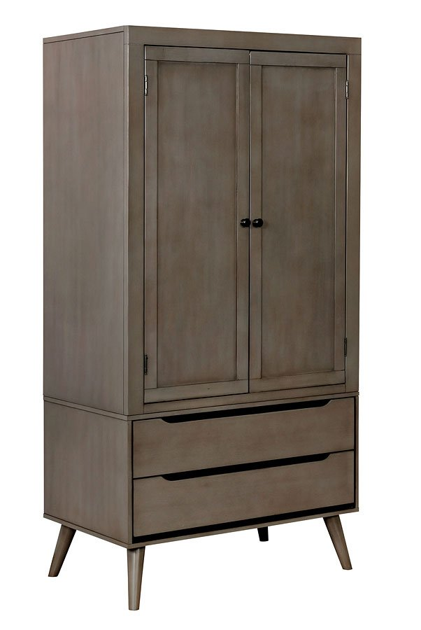 Lennart Armoire Gray Furniture Of America Furniture Cart