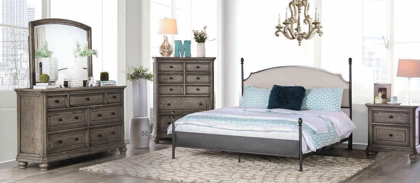Sinead Metal Bedroom Set Furniture Of America   Furniture Cart