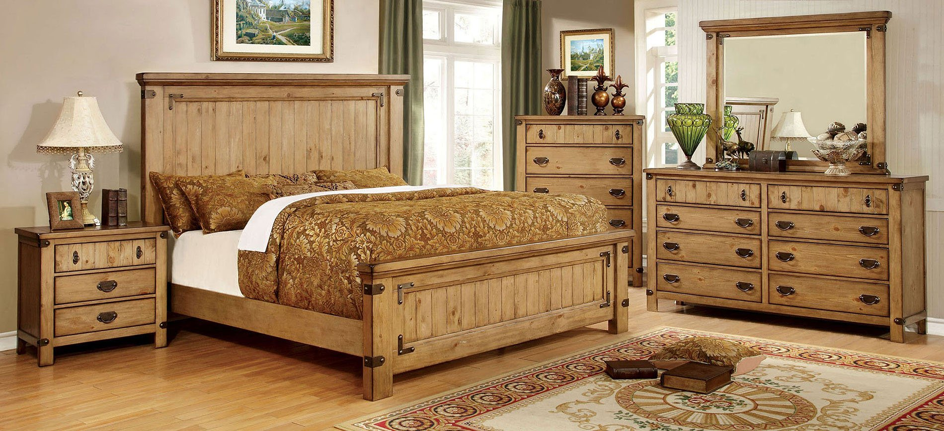 Pioneer Panel Bedroom Set