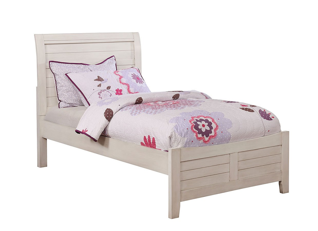 - Brogan Youth Sleigh Bed (Antique White) Furniture Of America