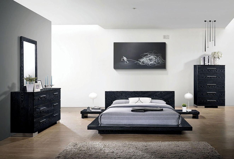Christie Platform Bedroom Set (Black)