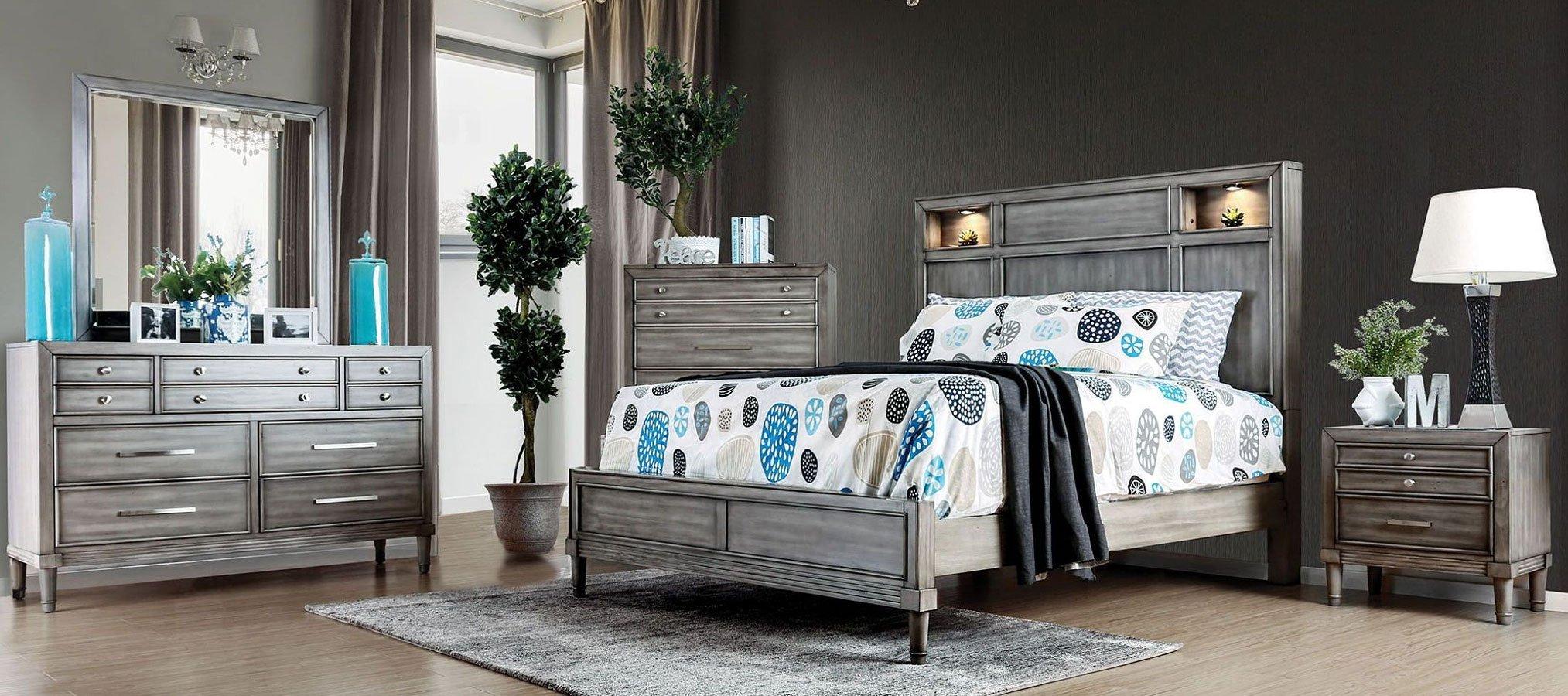 Daphne Bookcase Bedroom Set Furniture Of America