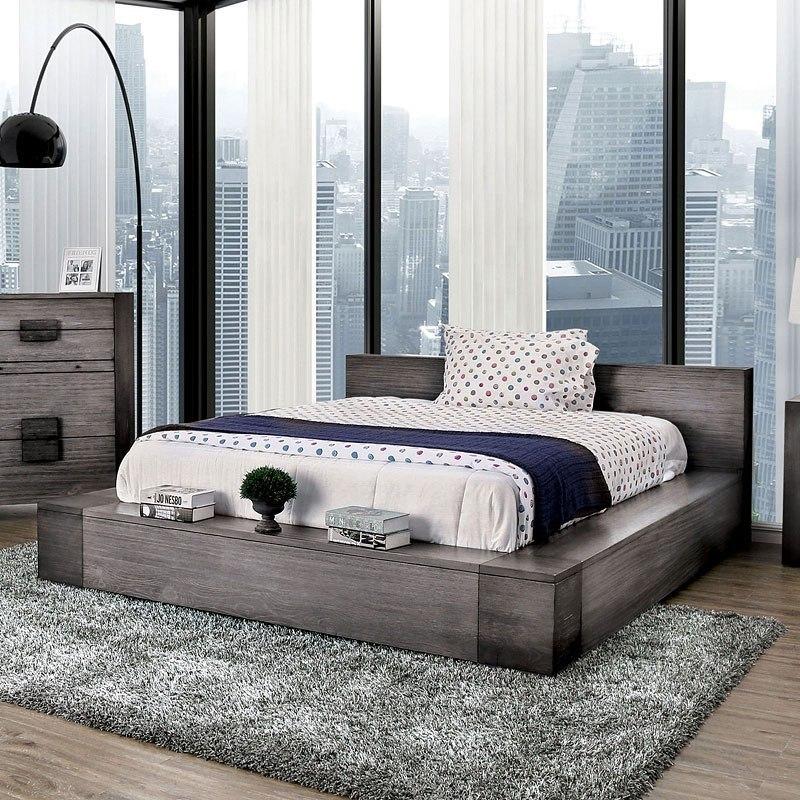 Janeiro Platform Bedroom Set Gray Furniture Of America Furniture Cart