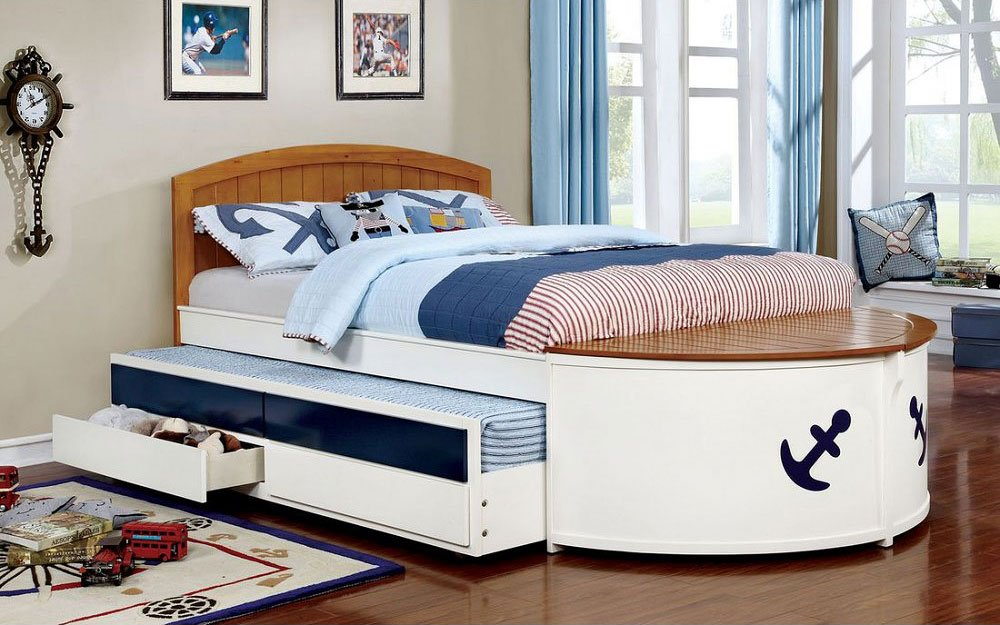Voyager Full Captain Bed W Trundle And Drawers Furniture