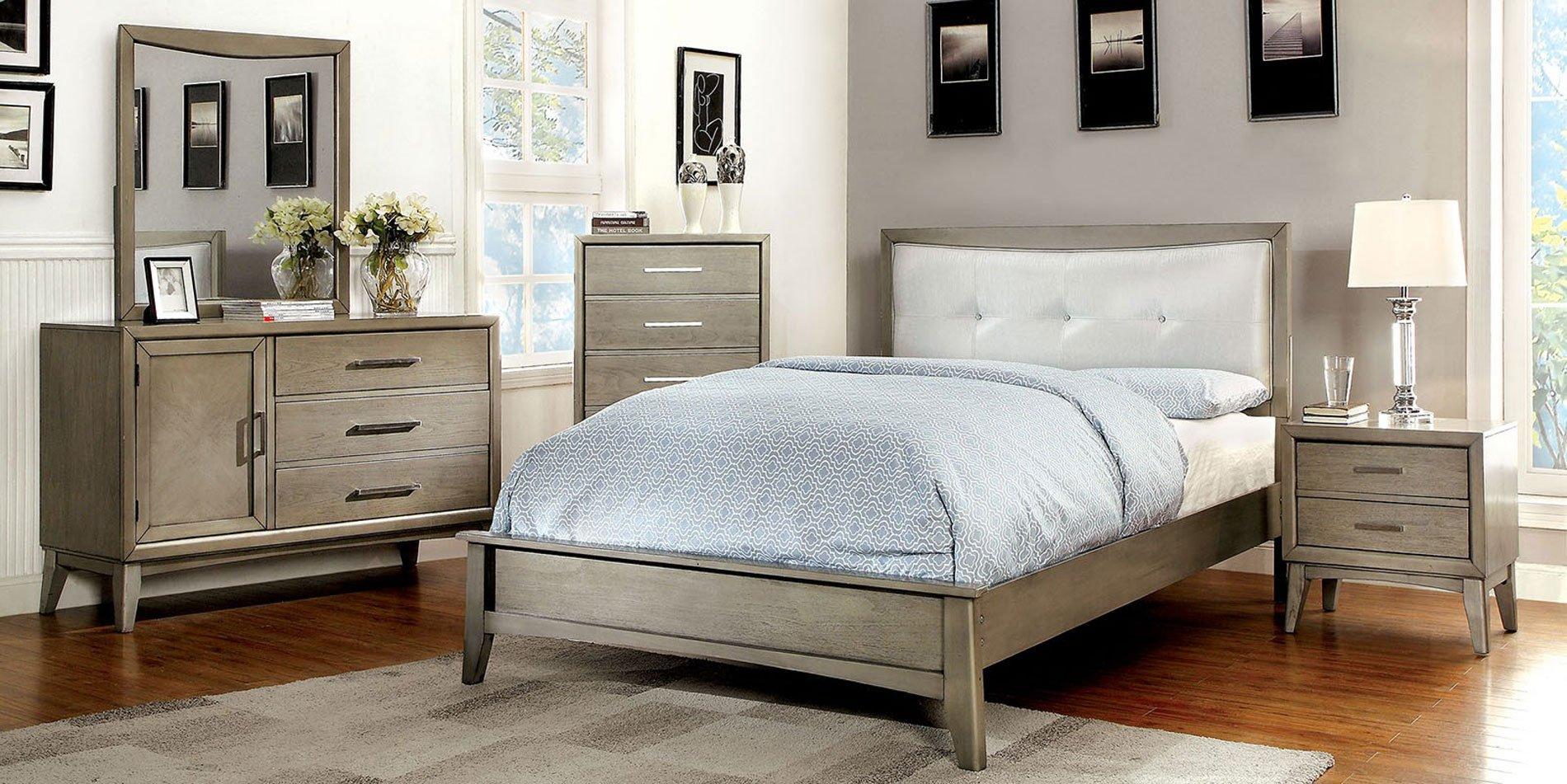 Snyder Platform Bedroom Set (Gray) Furniture Of America