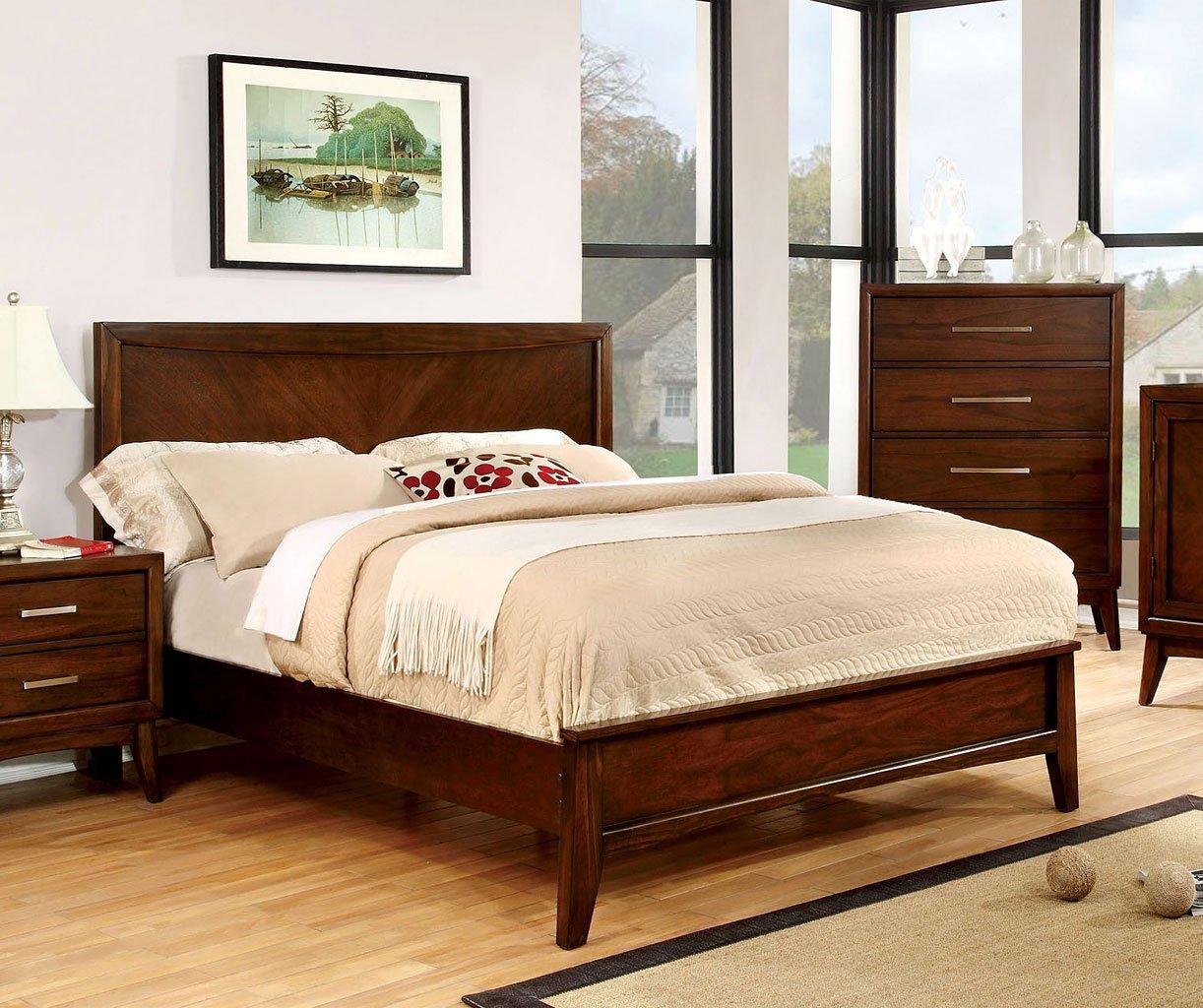 Snyder Platform Bed (Brown Cherry)