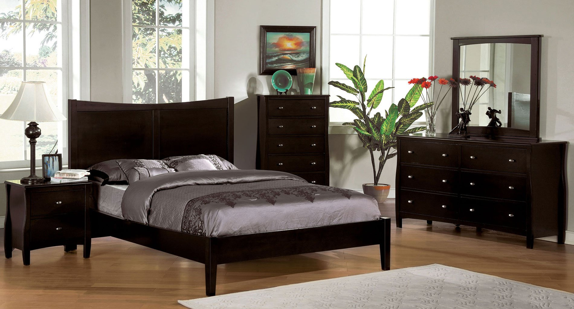 Milano Platform Bedroom Set Furniture Of America