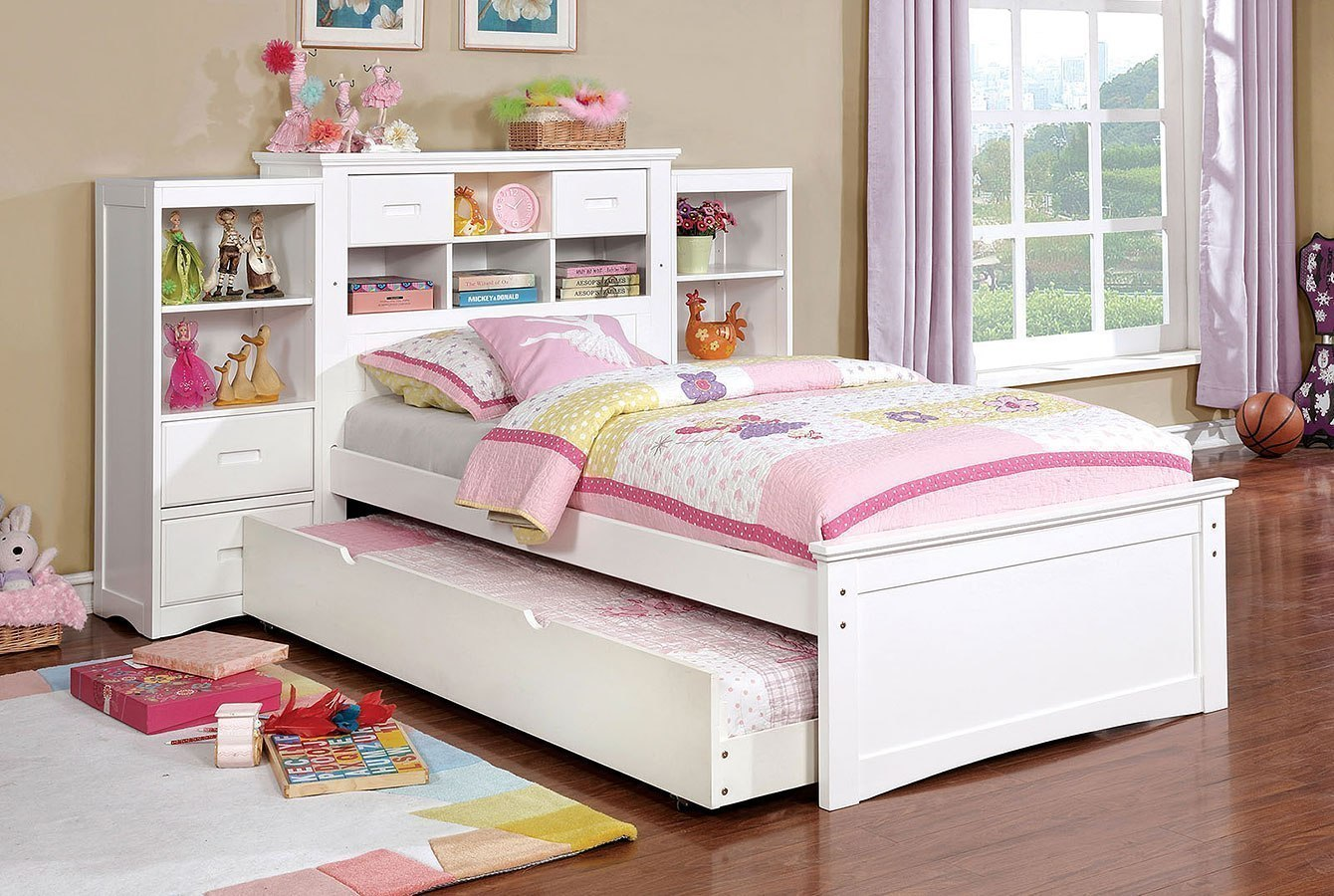 Pearland Youth Bookcase Bedroom Set (White)