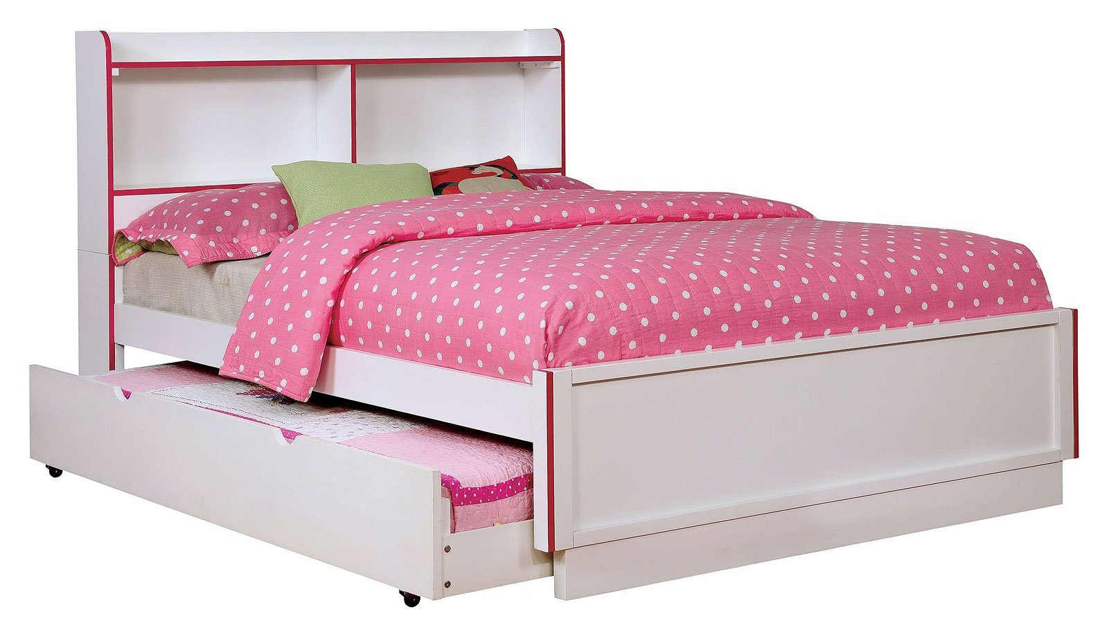 bobbi pink and white youth bedroom set furniture of 19464 | cm7852pk bed 2