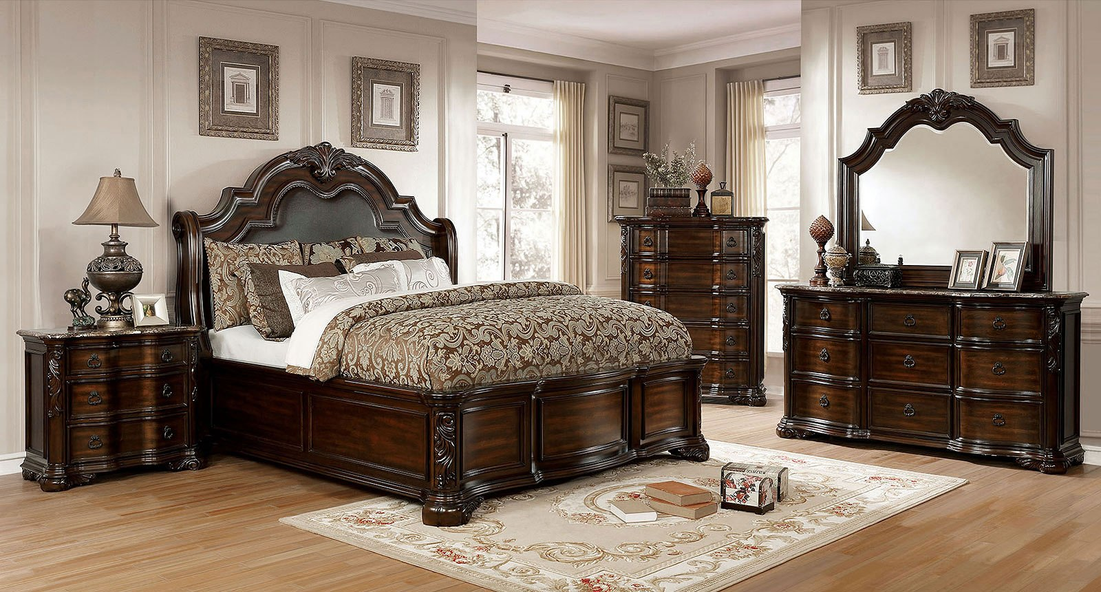 Niketas Sleigh Bedroom Set