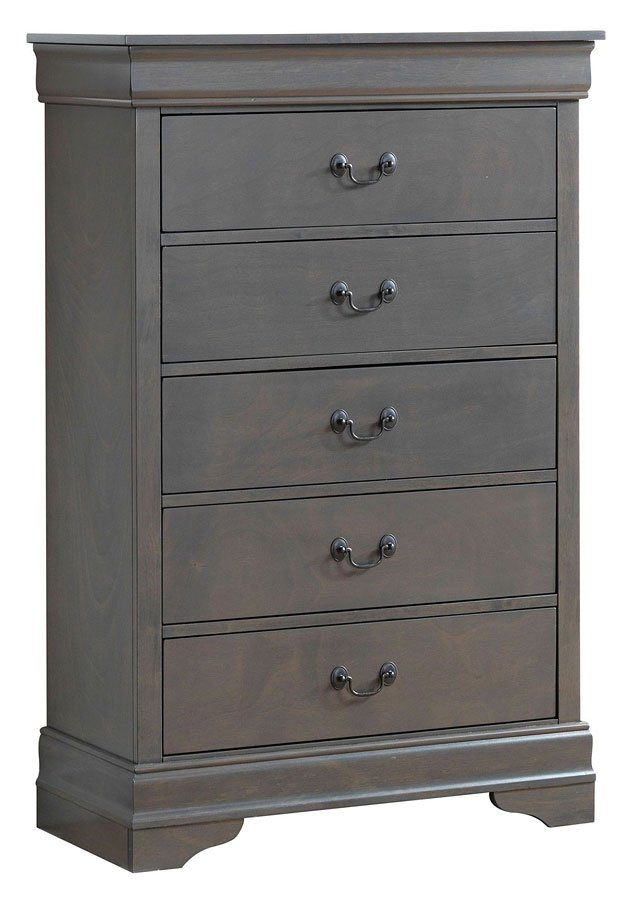 Louis philippe bedroom set gray furniture of america - Louis philippe bedroom collection ...