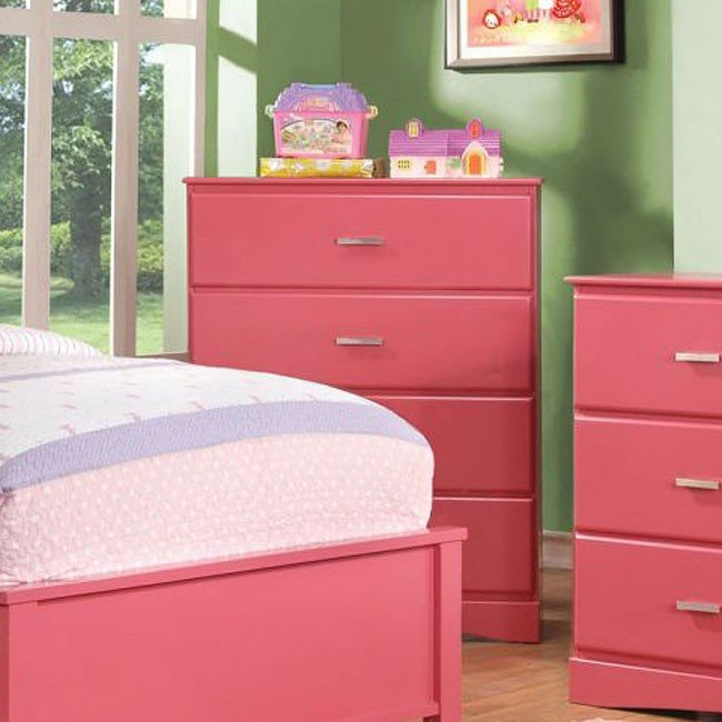 Prismo Youth Chest (Pink) Furniture Of America | Furniture Cart