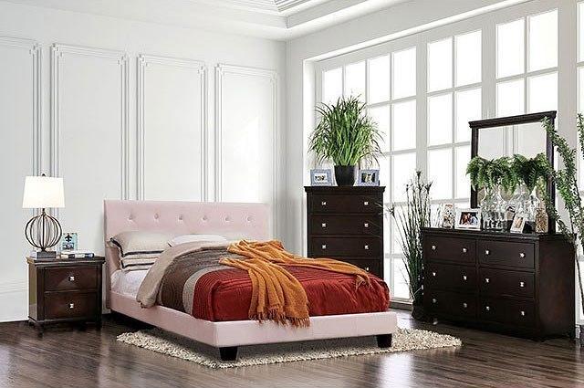 Velen Platform Bedroom Set (Blush Pink) Furniture Of