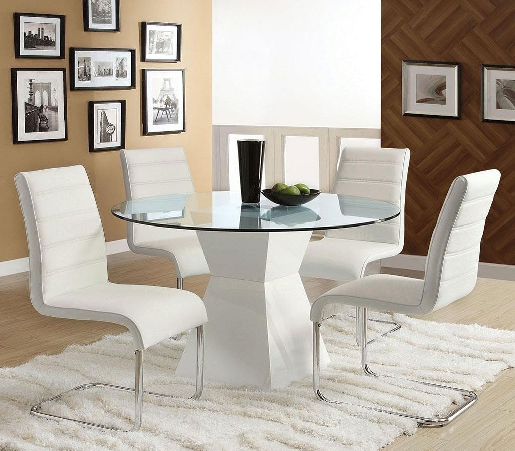 Mauna White Dining Room Set Furniture Of America