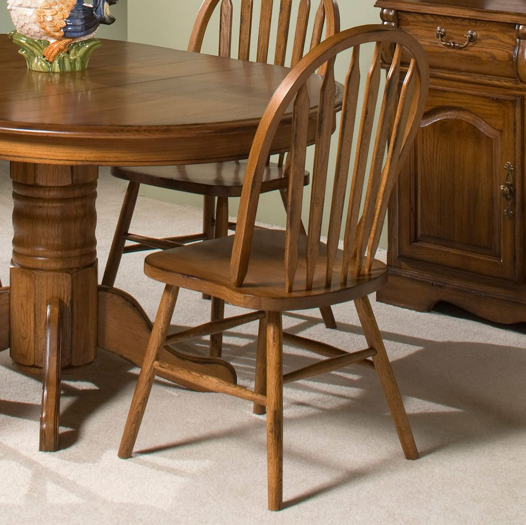 Superieur Classic Oak Plain Side Chair (Burnished Rustic) (Set Of 2)