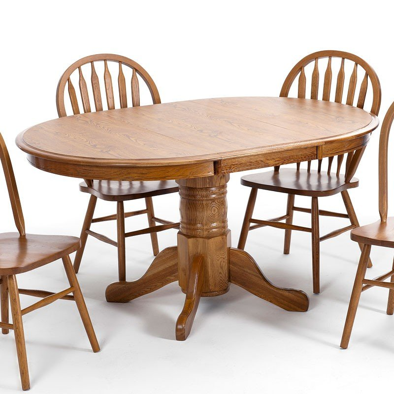 Classic Oak Round Dining Table (Chestnut)
