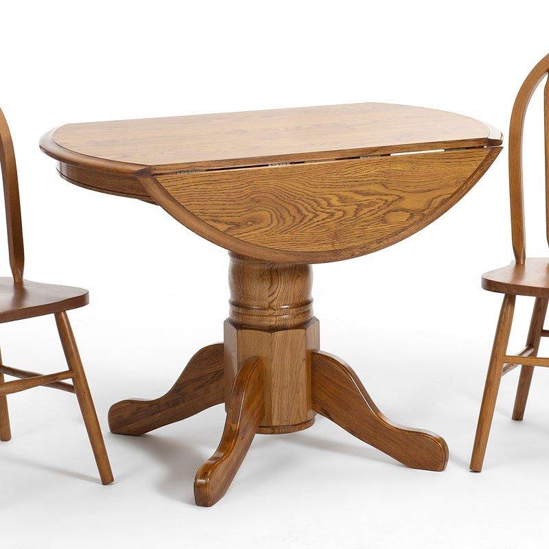 Clic Oak Drop Leaf Dining Table Chestnut