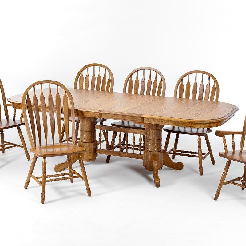 Classic Oak Laminate Rectangular Dining Table (Chestnut)