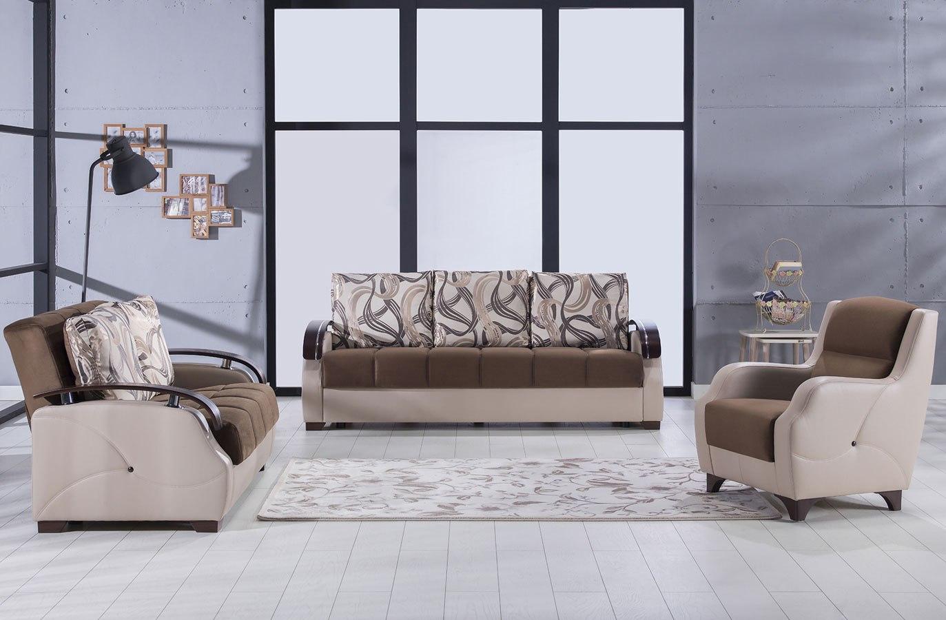 Costa Living Room Set (Best Brown)