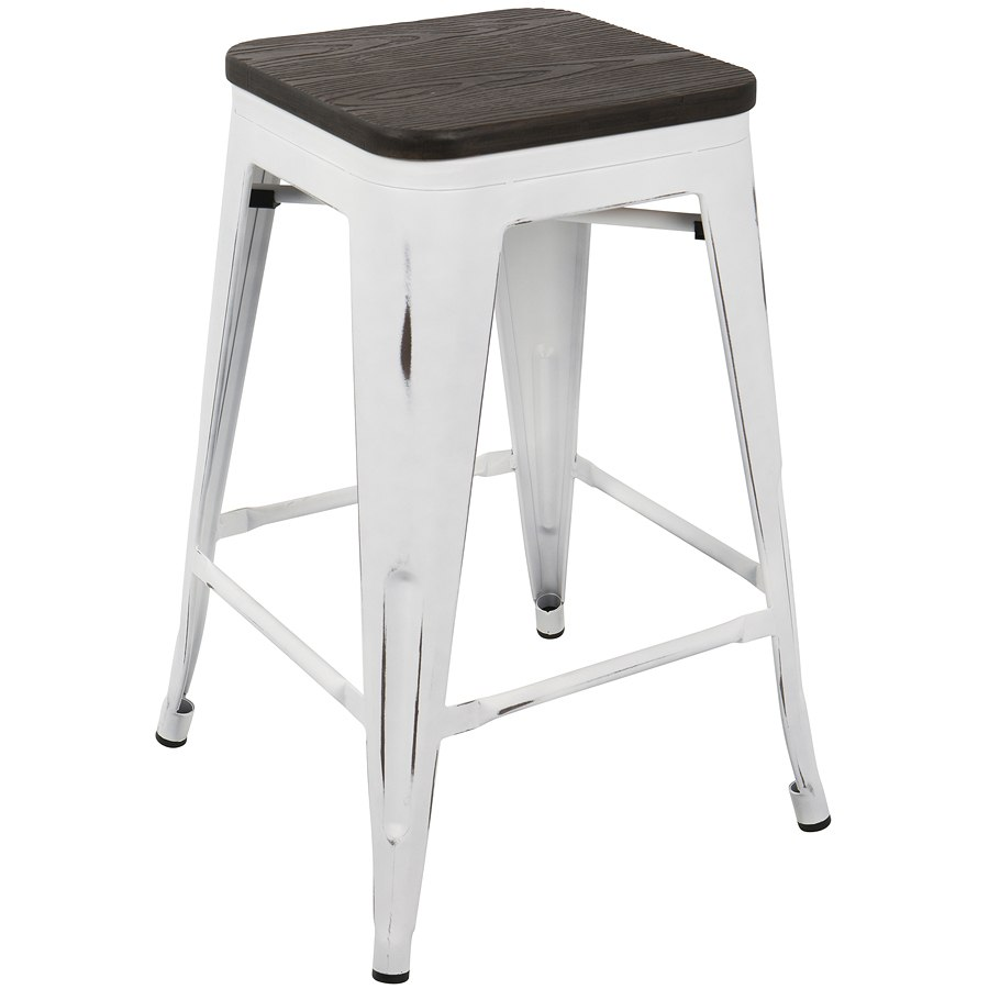 Phenomenal Oregon Backless Counter Stool White Espresso Set Of 2 Andrewgaddart Wooden Chair Designs For Living Room Andrewgaddartcom