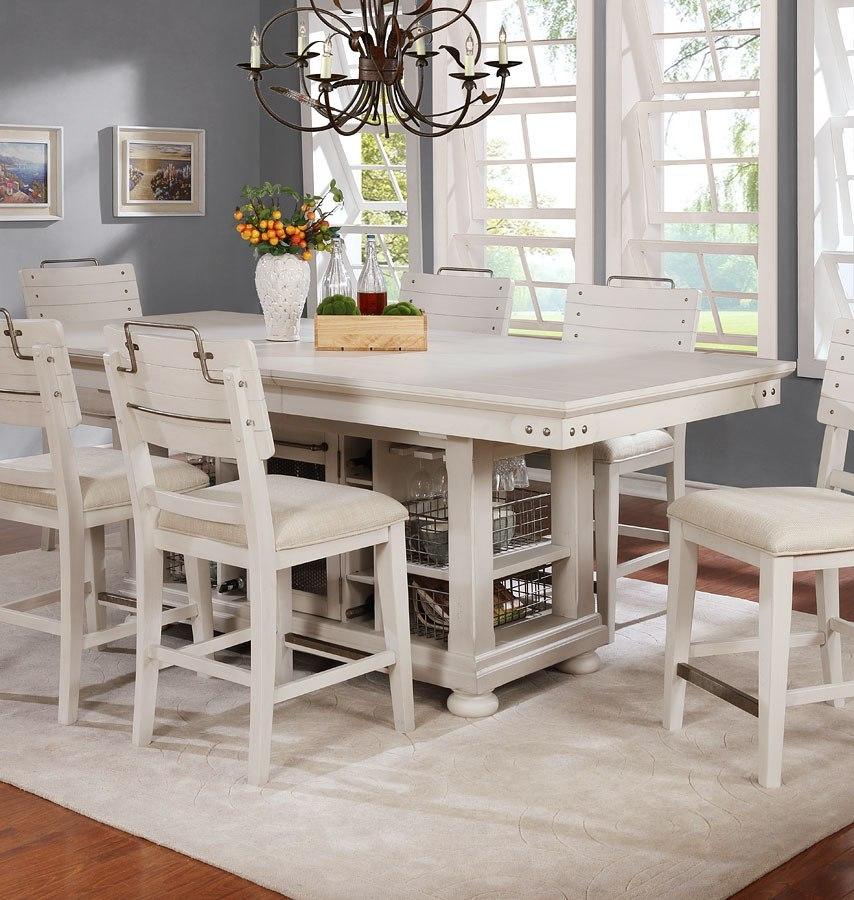 Vintage Americana Kitchen Island (White) Avalon Furniture