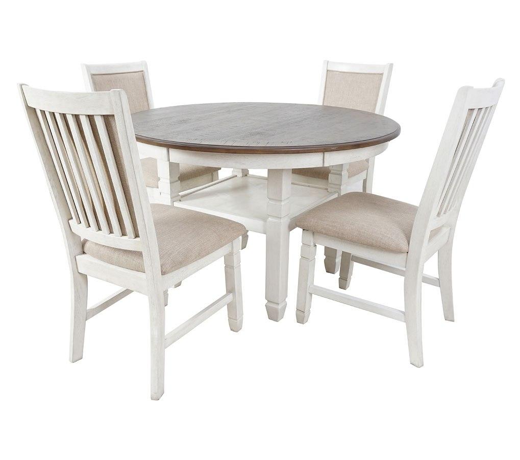 Prairie Point Round Dining Room Set (Cottage White)